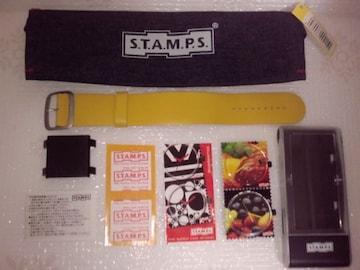 S.T.A.M.P.S. スタンプス 切手のようなオシャレな時計セット フルーツ柄 ポーチ付