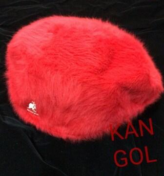 新品カンゴールKANGOLファーゴラ★ハンチング赤レッドXL