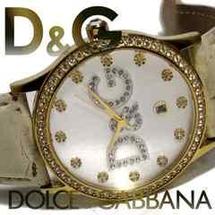 極レア 1スタ★ドルガバ/D&G【ジルコニア】大型メンズ腕時計