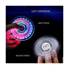Hand Spinner ハンドスピナー 指スピナー 光るLEDライト三角発光