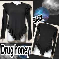 【新品/Drug honey】肩&裾フリルデザインカットソー