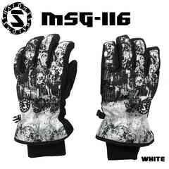 マシャロMASHALO スノーグローブ スキー メンズ MSG-116 WHITE