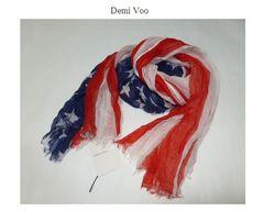 デミヴー*Demi VooSUBTLE LUXURY USAフラッグ柔らかストール新品