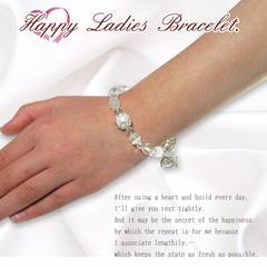 新品レディースブレスレットフリーサイズ真珠