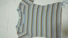 アーベーベー avv ミッシェルクラン ボーダー水色tシャツ