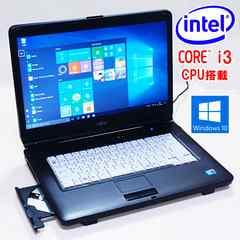 動作保証 15.6液晶 Core i3 LIFEBOOK A550 Win10 DVDマルチ 無線LAN