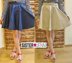 新品SISTER JENNIネイビースカート150センチ