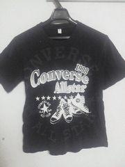 Fー208★コンバース・メンズ半袖Tシャツ ブラック L