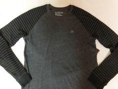USA購入【Hurley】Premium Fit 両腕サーマル素材ロングT US L