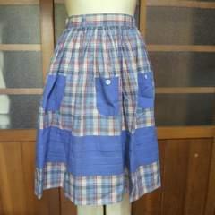 BETTY'S BLUE/ベティーズブルーポケット タータンチェック柄スカート