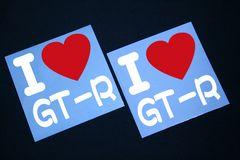 I LOVE ステッカー2枚組み 各色有り GT-R