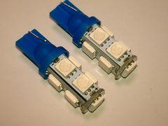 24V LED  T10 ウェッジ 9連 ブルー 2個セット ポジション 青