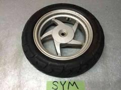 ☆ SYM symply50 シンプリー  リヤ タイヤホイール バリ溝