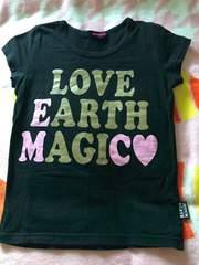 ♯EARTHMAGIC♯ラメプリTシャツ140バクプリアースロニィジディー