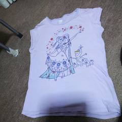女の子用アナ雪Tシャツ150�p