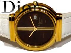 良品 1スタ★クリスチャンディオール【スイス製】腕時計