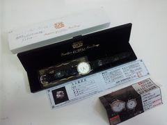 10342/Klaeuse純銀製ケース&天然ダイヤ13石使用高級メンズ腕時計★