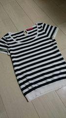 値下げアプワイザーリッシェ ボーダーニットTシャツ サイズ2