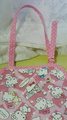 キティちゃんエプロン&三角巾2点セットゆうメール82円