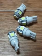 LED T10ウェッジ球(超白発光SMD/15連級)4個セット