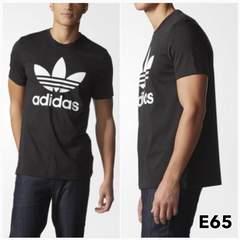 E65M■新品★アディダス adidas Tシャツ トレフォイル ロゴ 黒M