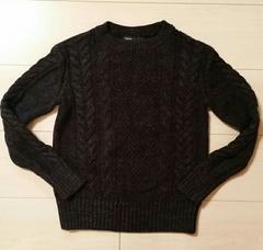 ★Gapkids★紺ケーブルニットセーター/size120cm 6-7yers