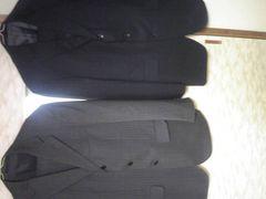 ビジネススーツ2着!定価98000円!グレー、紺色!