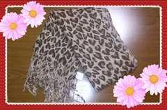 ◆◆新品未使用◆◆タグ付き:豹柄ストール