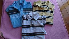 メンズポロシャツ3枚セットサイズXL