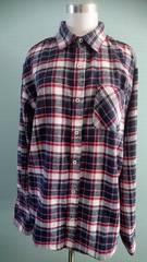 and it 大きめサイズのボーイフレンドネルシャツ LL アンドイット