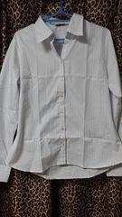 新品大きいサイズレディースシャツ長袖 スキッパー襟