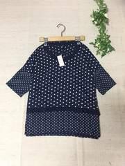 新品未使用タグ付定価9800円ドット柄プルオーバーTシャツ