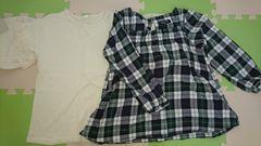 130★女の子★GU長袖カットソー&コムサイズム 長袖シャツ