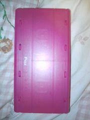 新品MDケース8枚収納ぴんくピンクPINK半透明スケルトン両面開きプラスチック・送0