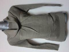 新品海外コレクション展示ウール混肉厚光沢糸ニットセーター