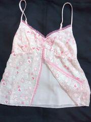 綺麗なピンクにハート刺繍のレースが超ロリッ可愛い ベビードール