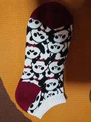 新品、靴下、くつ下、22�p〜25�p、パンダ、動物、1円、1スタ