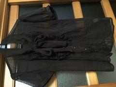 美品 プライムパターン ブラウス 茶色 リボン  半袖