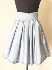 [L'EST ROSE]★水色スカート・花柄刺繍・サイズ[S]★