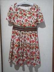 ジルスチュアート新品☆袖のデザインが素敵な花柄ワンピース/送料250円