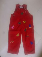 90 miki HOUSE 赤のジャンパースカート 美品