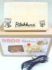 Rilakkuma リラックマサウンドセンサーLEDクロック☆のんびりネコアイボリー