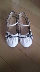 22cm 白い靴
