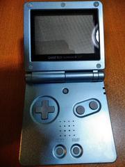 格安美品GBAゲームボーイアドバンスSP♪ブルー充電コード付!