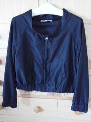 キューティブロンド衿が可愛いブラックの薄手ジャンパー/送料250円