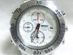 5385/SEIKOセイコー★超高額ダイバー型クロノグラフモデルホワイトCOLORダイヤル
