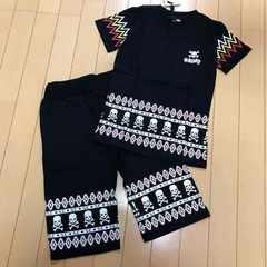 新品◆上下セット◆ドクロ半袖Tシャツ&ハーフパンツ◆140スカル