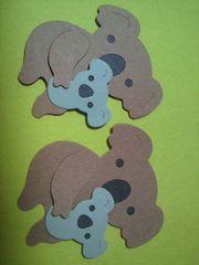 クラフトパンチダイカット、コアラの親子2セット(こあら)動物園のアルバムの飾り