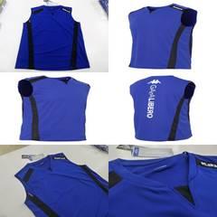 M 青紺)カッパ KF612TN21 スリーブレスシャツ 袖なしノースリーブ 薄手吸汗消臭