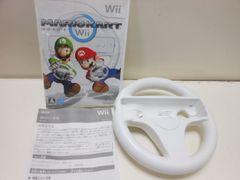 7426★1スタ★Wii MARIOKART/マリオカート wiiハンドル ゲームソフト